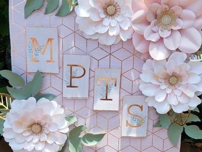 DIY Wooden Paper Flower Sign Project - Easy Handmade Item for Craft Shows or Local Markets