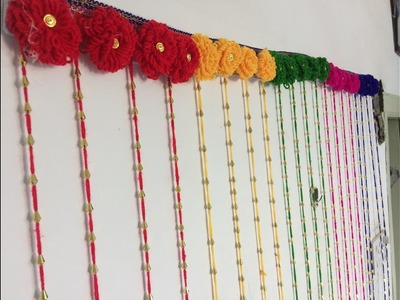 DIY | Woolen Craft Idea | Colourful Door.Wall Hanging Decoration Out Of Wool | *EASY & SIMPLE*