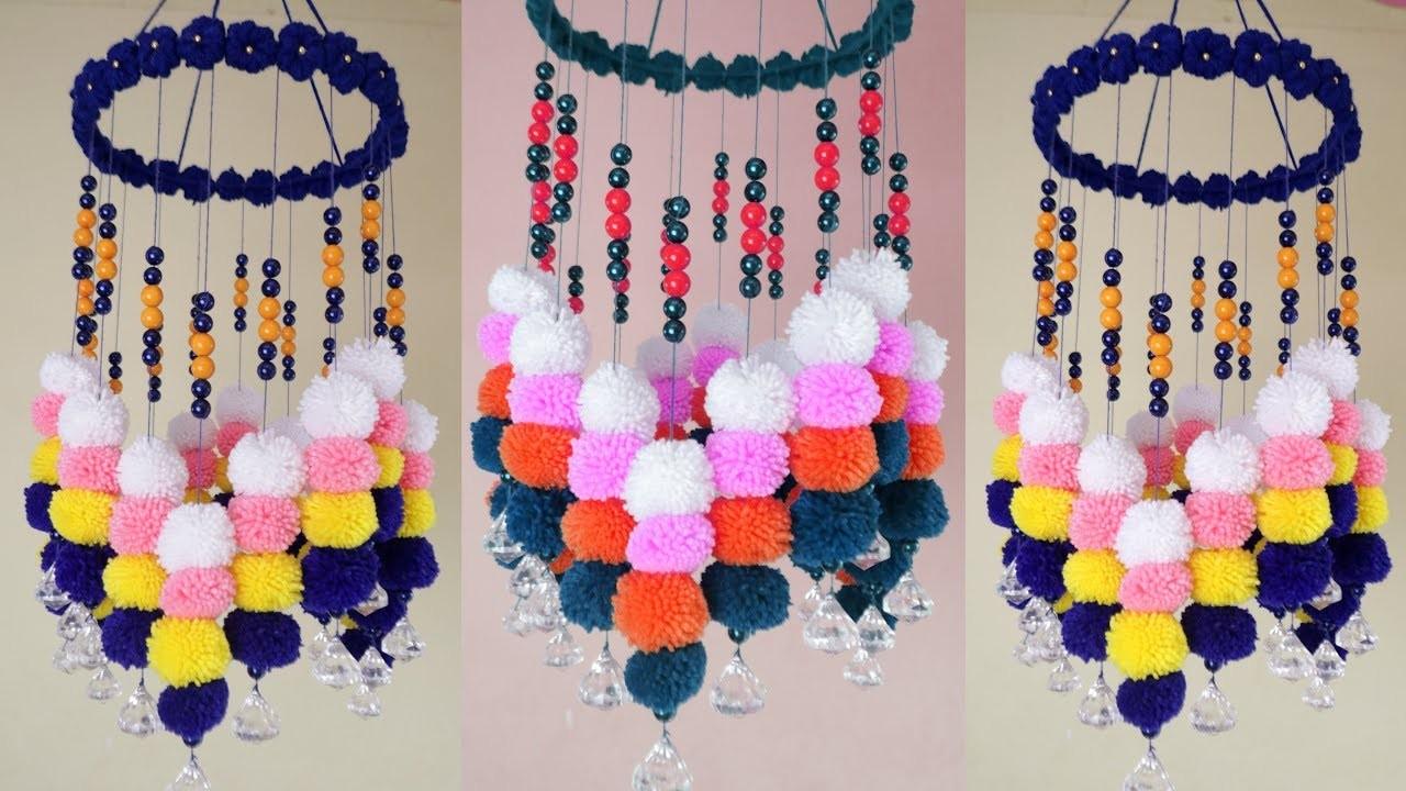 DIY Woolen Jhumar || Wall Hanging Craft ideas Easy With Wool || Diy Jhumar