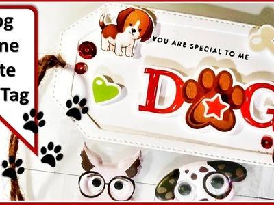 Dog Gone Cute Gift Tag || Miss Kate Cuttables || Creative Glam Craft Series
