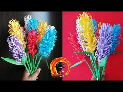 Easy Craft || How to make Lavender paper flower????