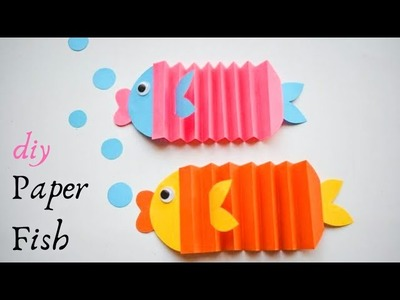 Easy Paper Fish Craft | Easy Paper Fish Making | DIY Paper Fish for Kids | Fun Paper Craft Ideas
