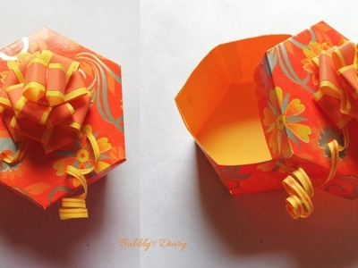 Gift Box Tutorial - DIY Gift Box - Easy Paper Crafts - Handmade Craft