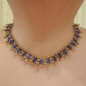 Handmade Golden Blue Necklace