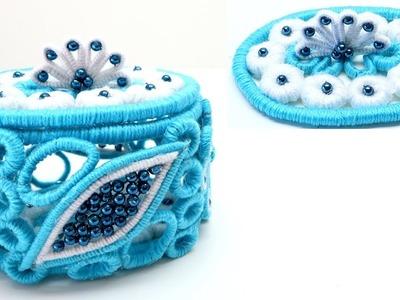 Handmade Storage Box Blue Dream for Home Decor Art and Craft Ideas home decor haul