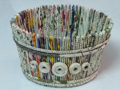 How to make a newspaper basket.DIY newspaper craft