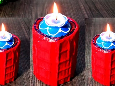 How to make amazing cement candle stand diy | Diy | p craft