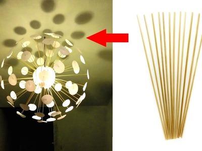How to Make Beautiful Bamboo Stick Lamp Shade at Home | Craft Village
