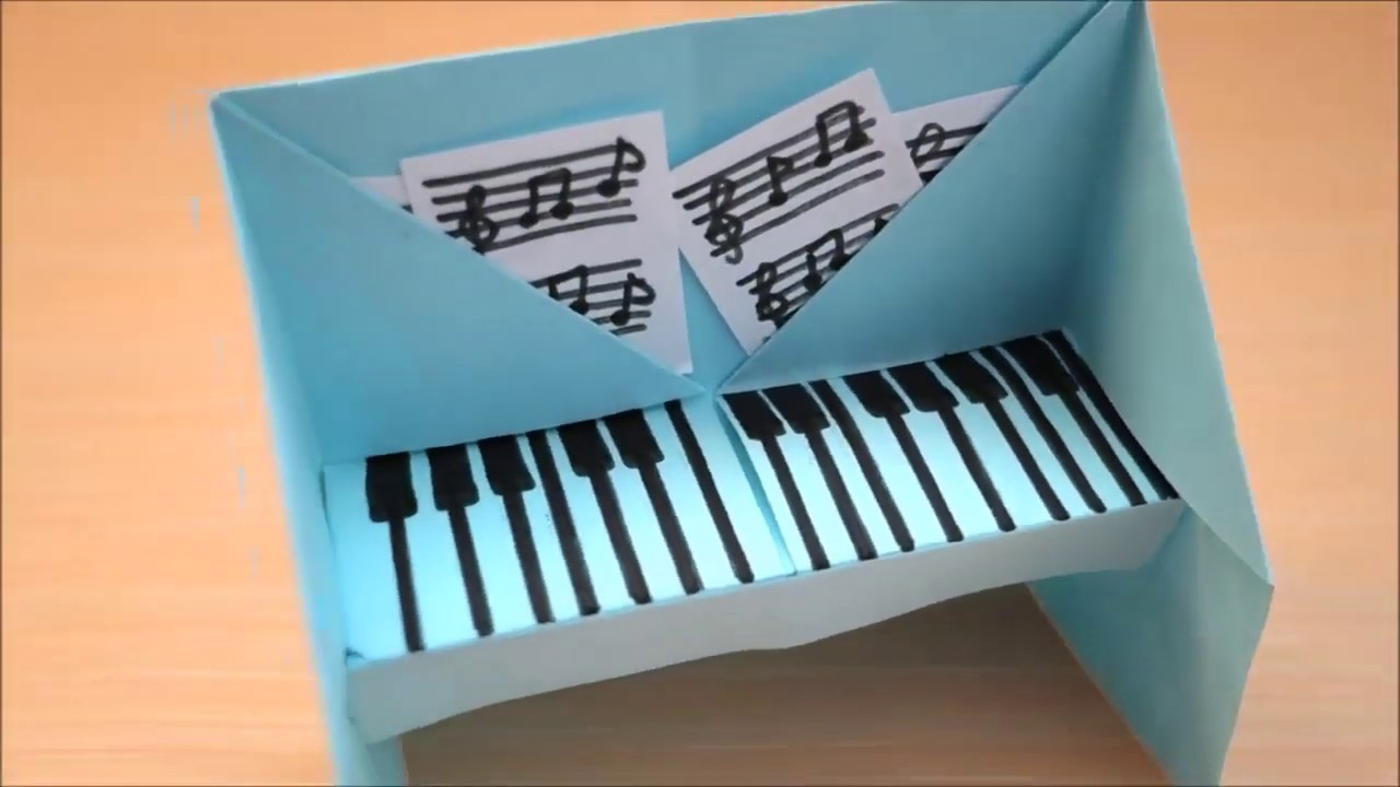 How to Make Paper Craft Piano | Paper Crafts | Craft Ideas for Kids with Paper