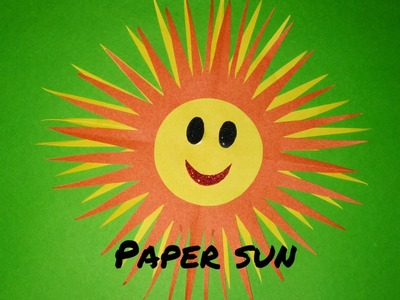 How to make paper sun | Kids summer camp activity | Paper craft