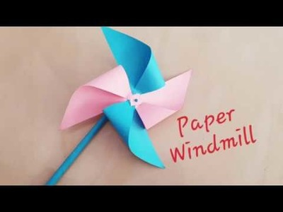 How to make paper Windmill.paper craft ideas.paper pinwheel DIY.hand paper fan.paper craft for schoo