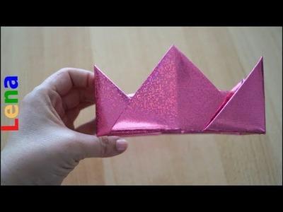Kreative Kids mit Lena -  Prinzessinnen Krone basteln - Princess crown craft - как сделать корону