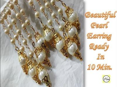 Make Beautiful pearl earring | Handmade Pearl Jewellery  | Handy Mandy Craft
