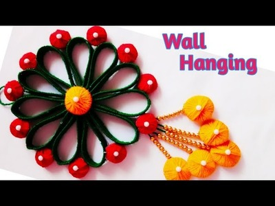 New !! Wall Hanging Out Of Waste. wall decoration idea. woolen craft.