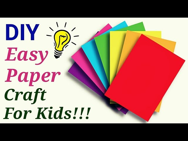 Paper craft - Easy and creative summer Camp Activities for kids|paper art| Art Craft ideas for kids.