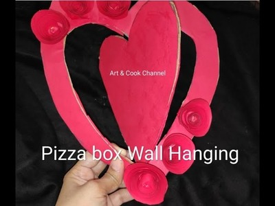 Pizza Box Crafts   #PaperWallHanging -Easy Wall Decoration Ideas -Paper craft - #DIY Wall Decor