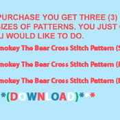 CRAFTS Smokey The Bear Cross Stitch Pattern***LOOK*** PREVIEW A SAMPLE OF MY PATTERNS DETAILS BELOW