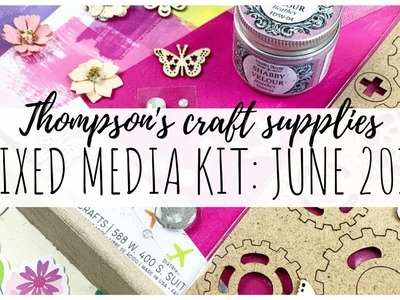 Thompson's Craft Supplies Mixed Media Kit | June 2019  | ms.paperlover