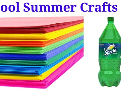Wow, 6 Cool Summer Craft Ideas for Kids | Pen Stand, Paper Flowers, Wall Hanging, Flower Vase