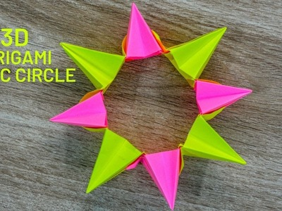 3D Origami Magic Circle Fireworks Paper Craft - Eid Special Origami Crafts Ideas | Eid Mubarak