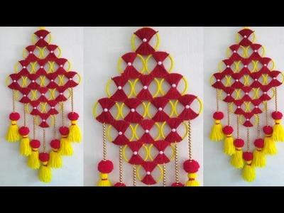 Bangle craft | Woolen wall hanging | Easy Room Decor |Yarn Craft idea |119|