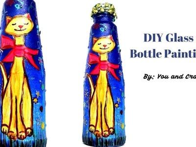 Bottle Painting for Beginners. Glass Bottle Craft