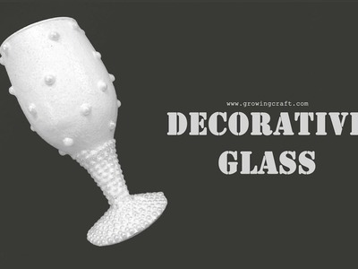 Decorate glass♥how to glitter a wine glass♥DECORATING wedding glass♥diy tlight holder♥candle holder