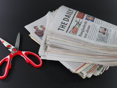 Diy Amazing Craft Out Of Newspaper ! Best Out Of Waste Newspaper ! Best Craft Ideas !