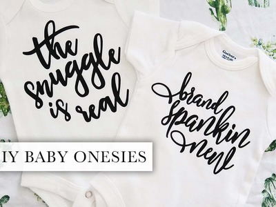 DIY Baby Onesies   Cricut Vinyl Tutorial