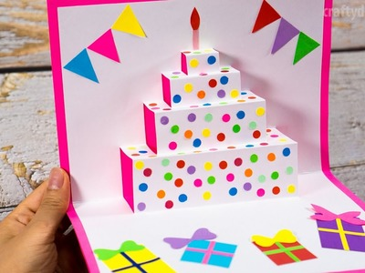 DIY Birthday Cake Pop Up Card | Easy Pop Up Card Tutorials | Craft for Kids