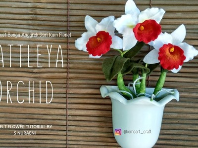 DIY Cattleya Orchids Felt Flower Tutorial By S Nuraeni - How To Make Cattleya Orchids Felt Flower