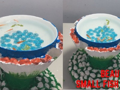 DIY - CEMENT CRAFT IDEAS | Idea of making Small Fish Pond at home | Garden Decoration