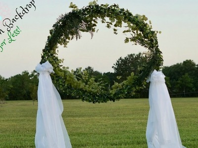 DIY Circle of Love Bohemian Wedding Backdrop for Less! | DIY Backdrop | DIY Tutorial
