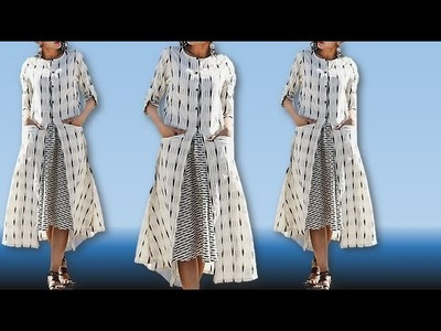 DIy Designer front pocket With stylish kurti cutting Stitching Full tutorial