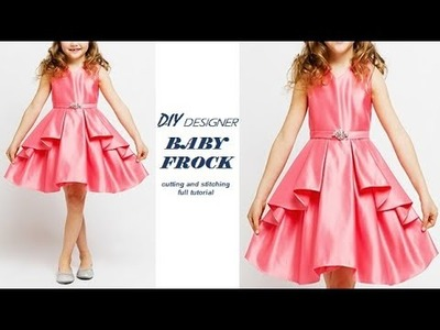 DIY Designer Layered Baby Frock Cutting and stitching Full Tutorial