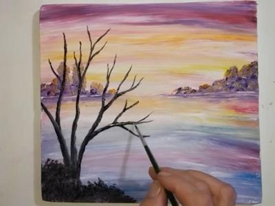 """DIY - draw yourself, """"Autumn Landscape"""". DIY - zeichne dich selbst, """"Autumn Landscape""""."""