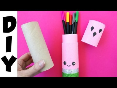 DIY Easy PENCIL CASE from Paper Roll | Watermelon Pencil Case Craft
