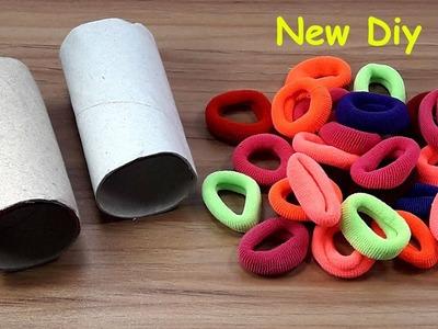 DIY Hair rubber bands & Tissue rolls craft idea | DIY art and craft | DIY HOME DECO