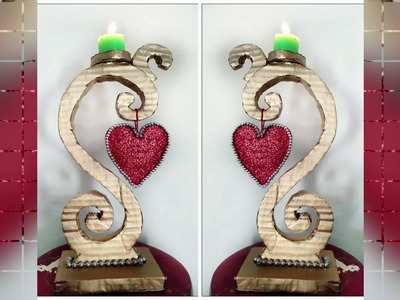 DIY - How To Make A Candle.Light Stand From Cardboard