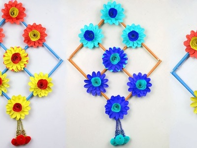 DIY : Paper Craft Ideas - Simple Home Decor at Home - Hanging Paper Flowers