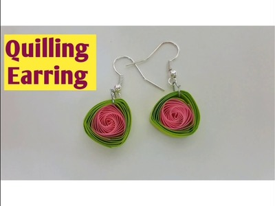 DIY #QUILLINGEARRING Easy And Very Simple Homemade Earring