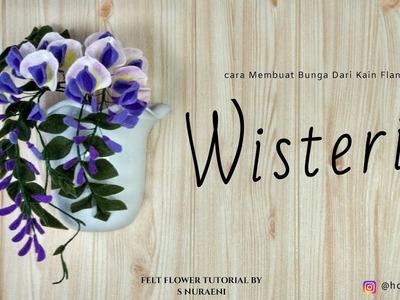 DIY Wisteria Felt Flower Tutorial - How To Make Wisteria Felt Flowers
