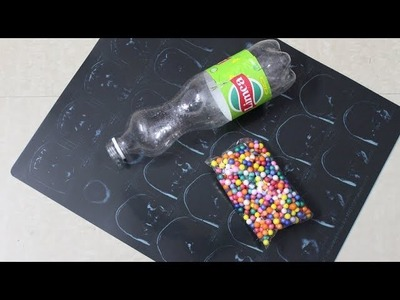 DIY-X RAY SHEET CRAFT and plastic bottle caps craft idea |