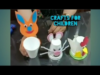Easy Craft For Kides.Best Out Of Recycling Ideas With Dispossible Glsses