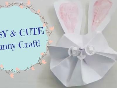 Easy & Cute Bunny Craft!