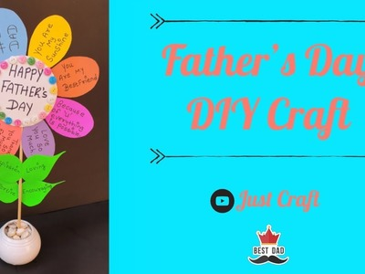 Father's Day Paper Flower | Paper Flower Pot Making | Just Craft