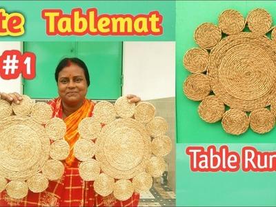 Handmade Jute Tablemat || Table runner making PART #1 | tablemat-DIY Craft | By Royalbengal Jute