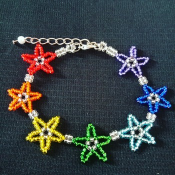 Handmade Starry Starry Rainbow Bracelet Jewellery
