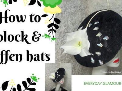 How to block and stiffen your hats and fascinator. DIY Tutorial video on hat making