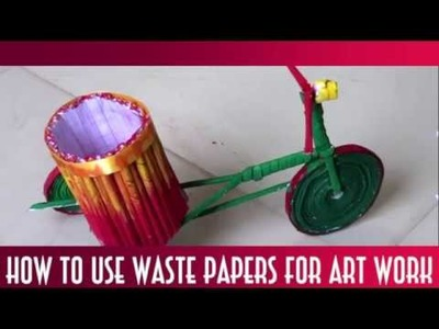How to make Craft and Art work with Waste Material!!Creat-ors A-R-T